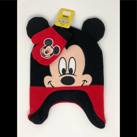 615b4a0eccb Disney MICKEY MOUSE toddler hat   mittens 2 pc set